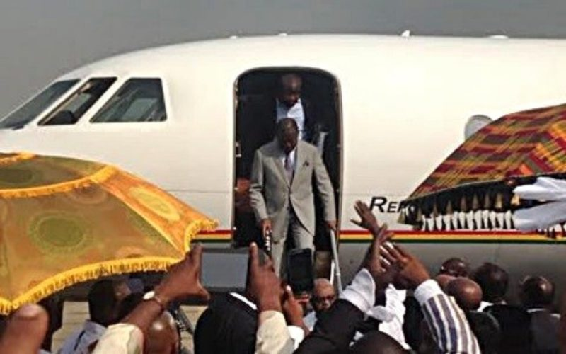 Asantehene fights back tears at rousing welcome