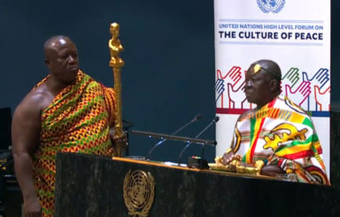 Asantehen at the UN in New York
